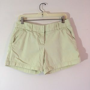 J.Crew Yellow Low-Rise Chino Shorts {Size 6}